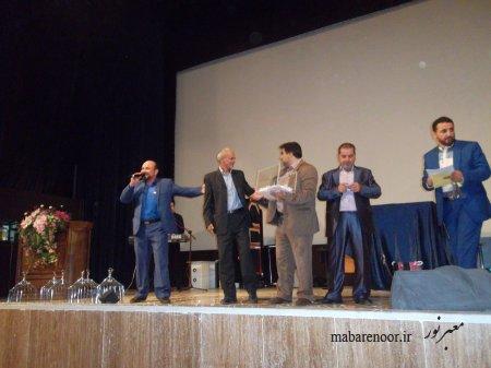 مراسم جشن نیمه شعبان با حضور خانواده تخریبچیان در موسسه فرهنگی سید الشهدا